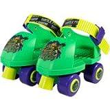 Nickelodeon Teenage Mutant Ninja Turtles Kids Rollerskates with Knee Pads, Junior Size 6-12