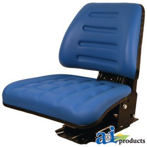 Blue Seat For Ford New Holland Tractor with Adjustable Angle and Full Suspension