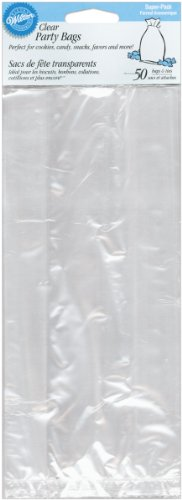 Wilton Clear Party Bag with Tie, Set of 50