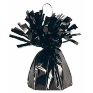 Black Metallic Balloon Weight, 6oz 6 Per Pack