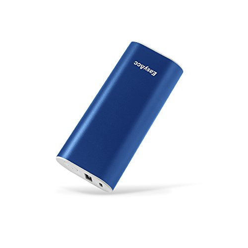 EasyAcc Metal 6400mAh (2.4A Output & 2A Input) Mini Portable Power Bank External Battery Pack Portable Charger for iPhone Samsung Smartphones - Mazarine Blue (Battery Pack Samsung S3 Mini compare prices)