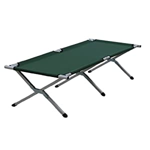 Folding Camp  on Yellowstone Aluminium Folding Camp Bed   Green  Amazon Co Uk  Sports