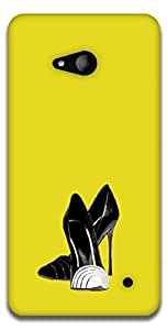 The Racoon Grip printed designer hard back mobile phone case cover for Microsoft Lumia 640. (High Fashi)