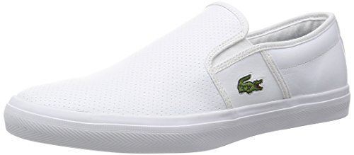 Lacoste Uomo Gazon Sport 116 2 Slip-On Shoes, Blu, Bianca, 40 EU