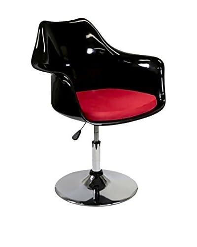 Manhattan Living Lilly Arm Chair, Black