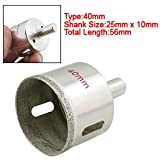 1 X Sharp Material Coated Tip 40mm Glass Hole Saw Cutter
