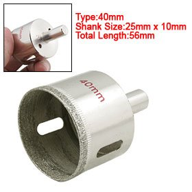 Diamond Coated Tip 40mm Glass Hole Saw Cutter Bit