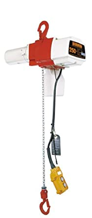 Harrington ED Single Speed Electric Chain Hoist, Single Phase, Hook Mount