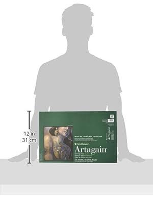 Strathmore 400 Series Artagain Pad, Coal Black, 12x18 Glue Bound, 24 Sheets (Color: Coal Black, Tamaño: 12 by 18)