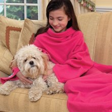 As Seen On TV Snuggie For Kids Pink with Slipper Socks