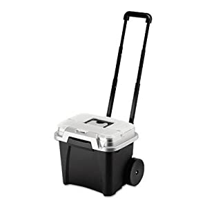 Rubbermaid 15076 Portable File, Wheeled, Premium, Telescopic Handle, 15.8w x15.6d x14h