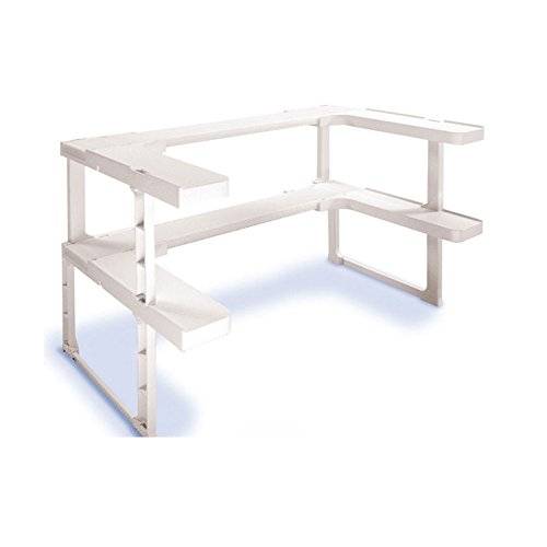 Stackable Spice Storage Shelf Kitchen Cabinet Organizer Cosmetic Rack Set of 2 (Kitchen Cabinet Pull Out Racks compare prices)