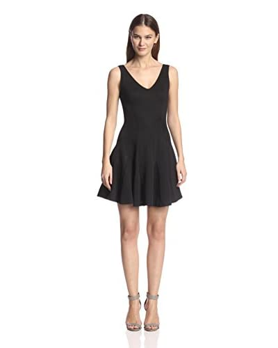 Love…Ady Women's Godet Fit-and-Flare Dress  [Black]