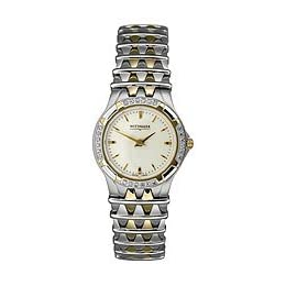 Wittnauer Ladies Two Tone Watch with Diamond Bezel 12R05
