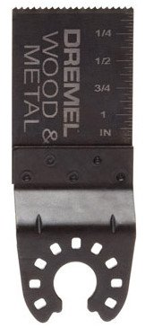 "Dremel MM462 1-1/8"" Bimetal Flush Cut Blade for Wood & Metal Cutting"