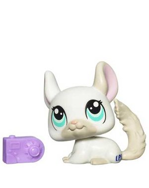 Buy Low Price Hasbro Littlest Pet Shop Get The Pets Single Figure Chinchilla (B00359YI38)