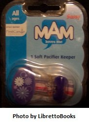 Mam Soft Pacifier Keeper (purple)