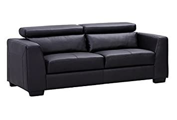 Shanghai Sofa in Black Bonded Leather
