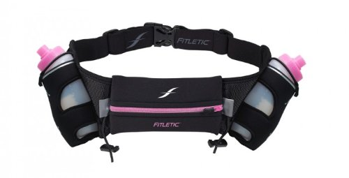 iFitness Neoprene Hydration Belt 16 oz (Pink Zip)