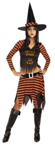Rubie's Teen 'Wicked Witch' Halloween Costume, Orange/Black, 2-6