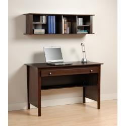 Buy Low Price Comfortable Contemporary Computer Desk and Wall Mounted Desk Hutch Combination in Espresso EWD4730K (B00478RZUE)
