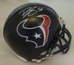 Brian Cushing Autographed Houston Texans Riddell Mini Helmet