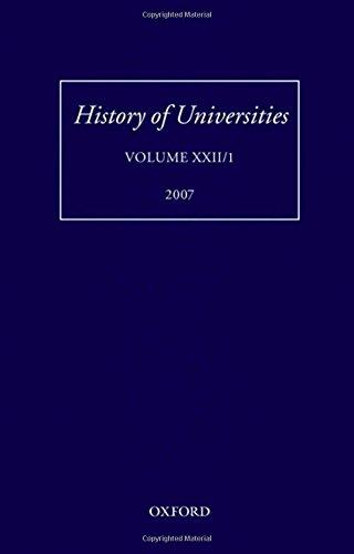 History of Universities: Volume XXII/1 (History of Universities Series)
