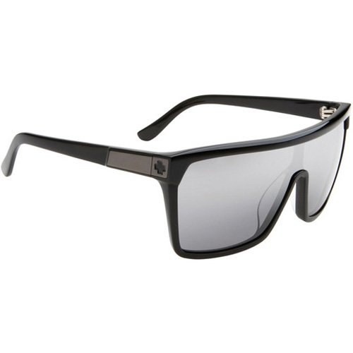 Spy Flynn Sunglasses - Spy Optic Look Series Casual Wear Eyewear - Color: Black with Matte Black/Grey with Black Mirror, Size: One Size Fits All
