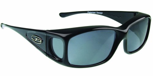 Fitovers Eyewear Razor Sunglasses (Midnite Oil, Gray)