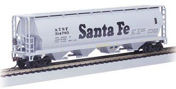 Bachmann Trains Santa Fe 4 Bay Cylindrical Grain Hopper