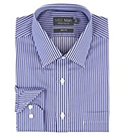 Performance Pure Cotton Non-Iron Slim Fit Striped Shirt