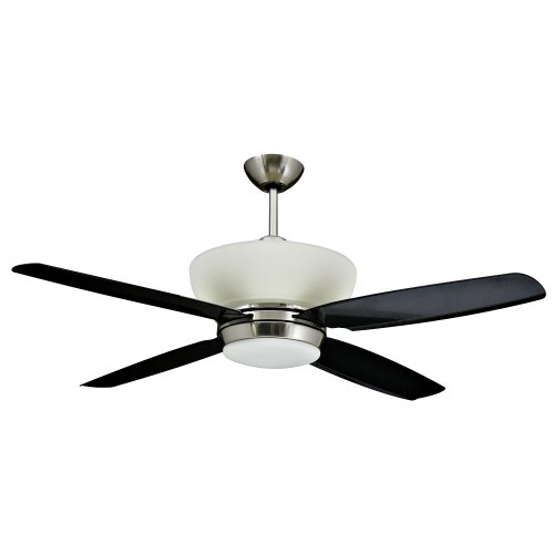 Yosemite Home Decor Zephyr-Bn 52-Inch Ceiling Fan With Light Kit, Brushed Nickel