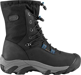 Keen Ladies Wilma Lace Boot Black Legion Blue 7 D (M) by Keen