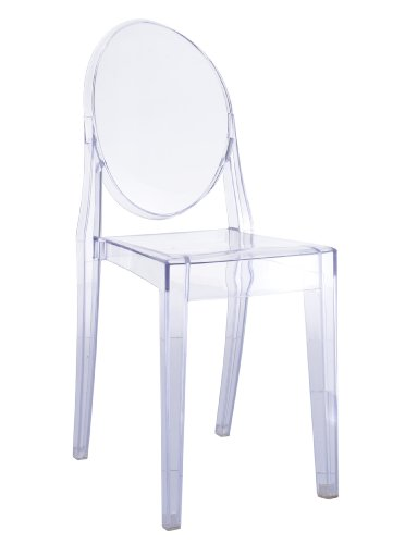 Victoria Ghost Side Dining Chair in Clear Transparent Acrylic