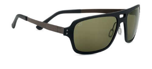 Serengeti Cosmopolitan Nunzio Sunglasses, Polar PhD 555nm, Satin Black