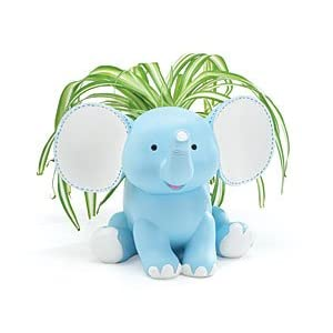 Baby Boy Blue Elephant Planter