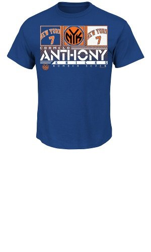 Nba New York Knicks Men'S Carmelo Anthony 7 The Big Leagues Tee Shirt, Deep Royal, Large