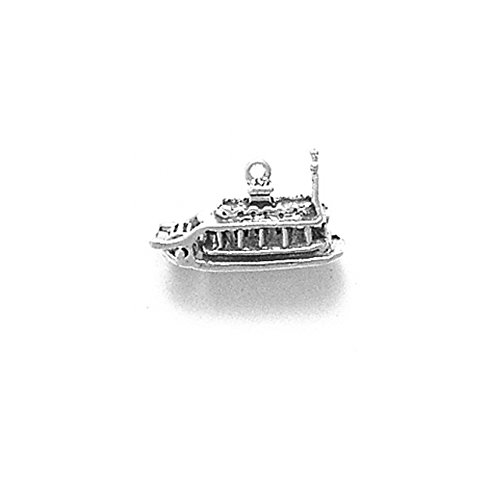 Sterling Silver Moveable Show Boat or River Boat Charm Item #389