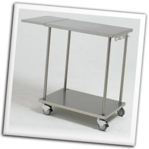 Simogas chariot inox professionnel 4 roulettes avec for Chariot cuisine professionnel