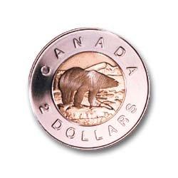 Toonie Polar Bear the Toonie Bear or Toonie or Polar Is the Two Dollar Coin of Canada