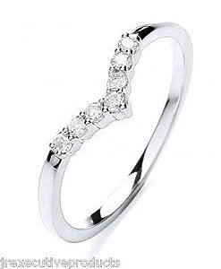 White Gold Premium Diamond Wishbone Eternity Ring (size K - T available)