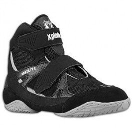 Brute Xplode 2 Youth Wrestling Shoes (Velcro Closure), Black/Silver, Size: 11-Youth