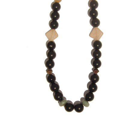 Calcite Necklace 10 Beaded Jasper Rainbow Obsidian Black Yellow Crystal 21