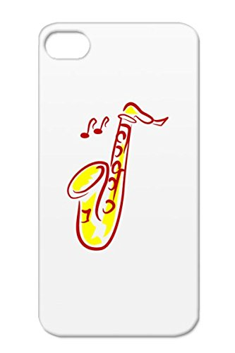Saxophone Red Case For Iphone 4/4S Sound Engineering Stage Reop Recording Jazz Music Microphone Studio Music Tpu