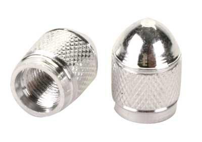 Sunlite Hex Sport Valve Caps Pair - Silver
