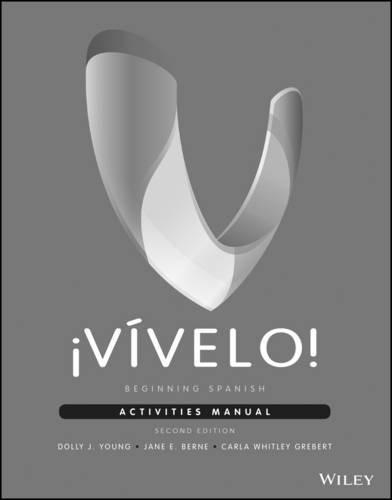 ?V?velo!: Beginning Spanish Activities Manual