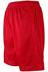 North 15 Men's Long Athletic Mesh Shorts with Side Pockets 45 Designs & Colors