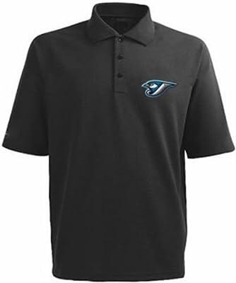 Toronto Blue Jays MLB Majestic Dri Fit Black Polo Golf Shirt Big & Tall Sizes