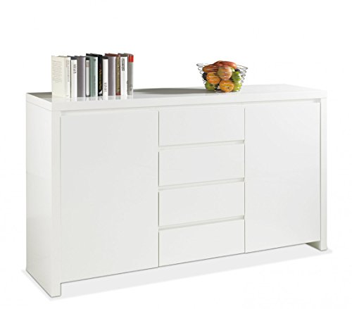 Lee-1-Sideboard-Kommode-Wei-Hochglanz