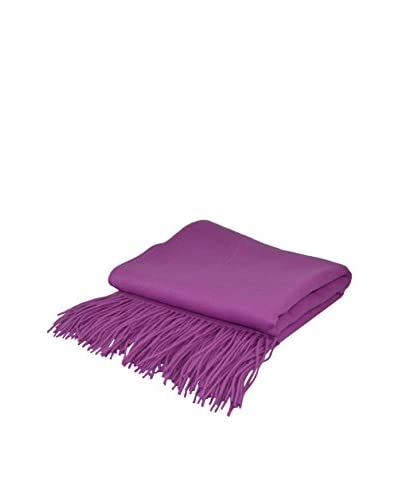 PÜR Cashmere Signature Blend Throw, Orchid